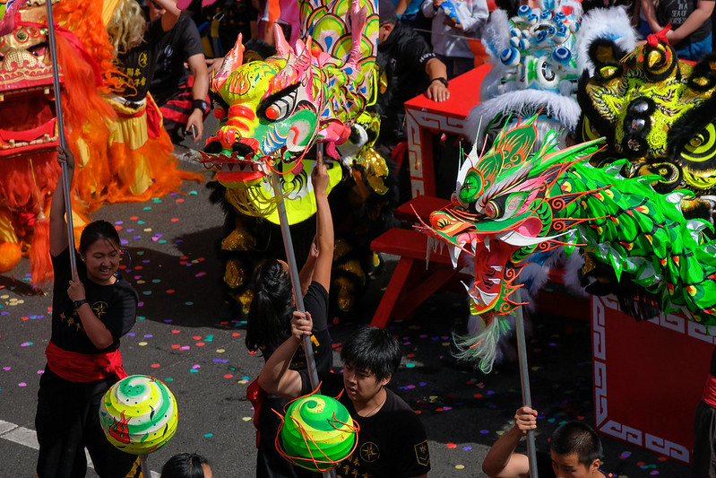 Dragons in Melbournes Chinatown. Photo: a.canvas.of.light (CC BY 2.0)