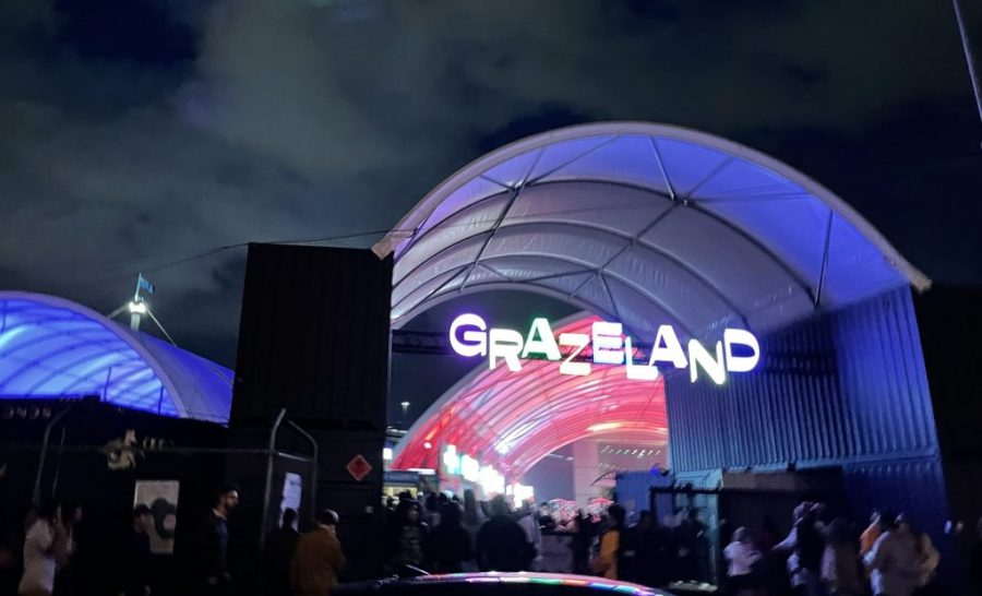 The entrance to Grazeland, a new permanent food precinct in Melbourne's west.