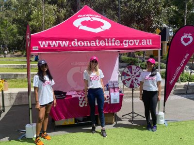 DonateLife NSW take to university orientation weeks across the state to chat with students and young adults about organ and tissue donation. Picture: supplied.