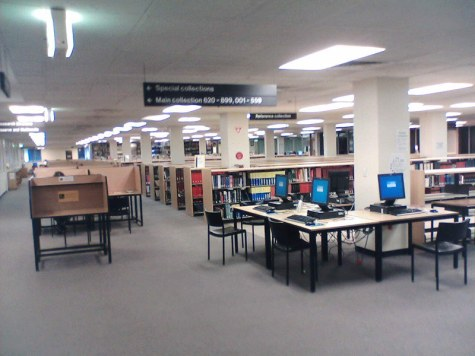 An empty university library. Photo: Tim Riley (CC BY-NC-ND 2.0)