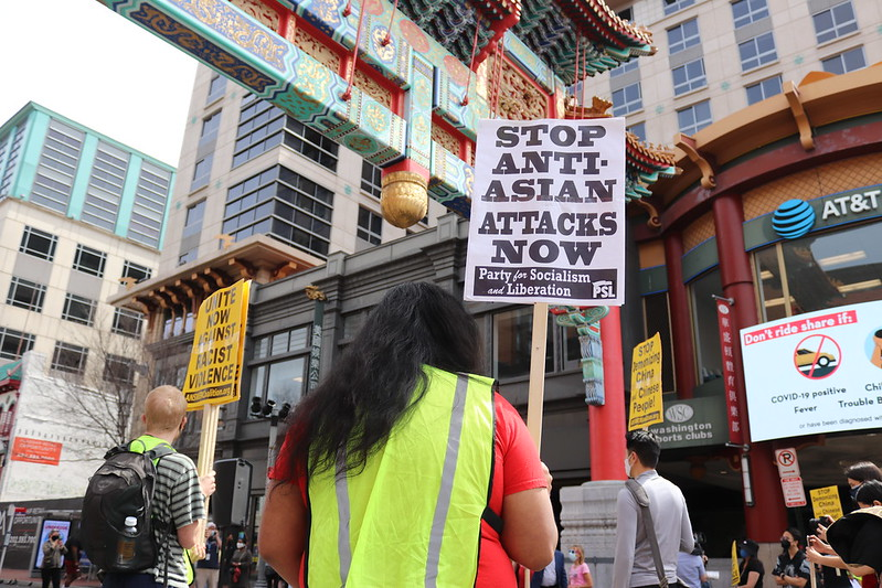 Protest against anti-Asian hate in Washington DC in the United States March 2021. Photo: Elvert Barnes (CC BY-SA 2.0)