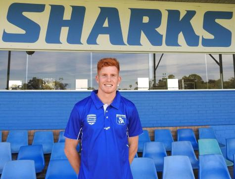 Former Gold Coast Sun Josh Schoenfeld poses at East Fremantle Oval
