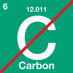 no carbon symbol