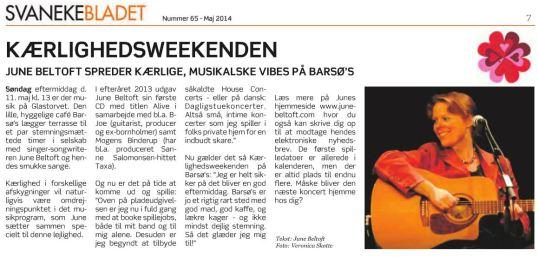 Svanekebladet maj 2014 - June Beltoft