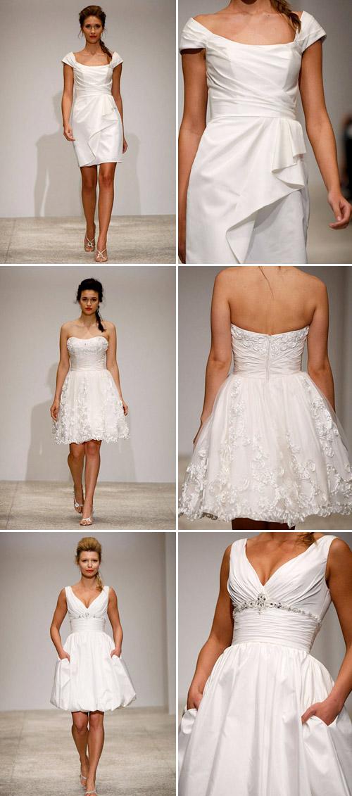 short wedding dress from Alfred Angelo, spring 2011 runway