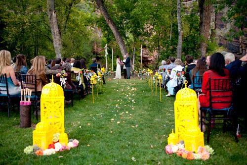 Colorful Outdoor Colorado Wedding
