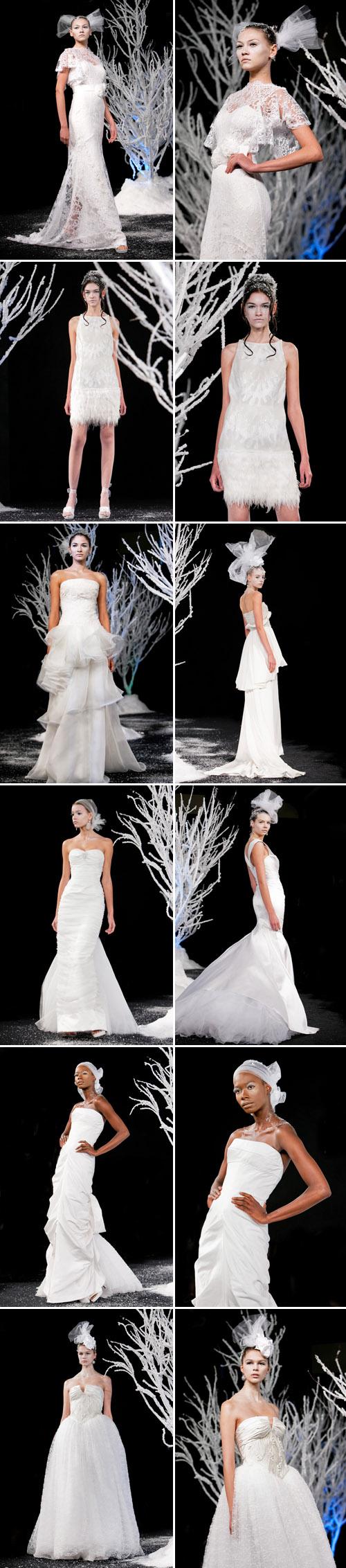 Douglas Hannant Fall 2011 wedding dress collection from NY Bridal Market, photos by John and Jospeh Photography