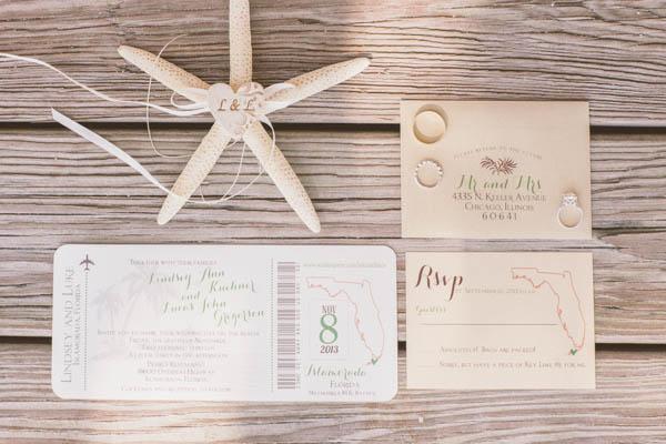 Intimate Beach Wedding Invitations By Inspirations Amie Lee Photo Chris Glenn Via