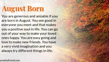 Born in August Images