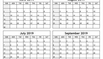 june and july 2019 calendar printable template free download