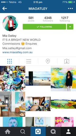 This isn't the first time I've mentioned Mia. Based in Sydney, Australia, Mia Oatley's artworks are bold, edgy and have a unique Australian flair to them. She always brightens up my feed with her acrylic budgies and gorgeous abstracts. http://www.miaoatley.com.au