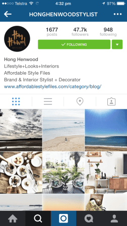 I followed Hong back in the days of Affordable Style Files - now she's rebranded and her posts, about her family, her home and what inspires her, provide oodles of inspiration.