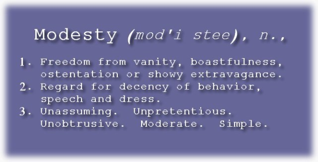 Modesty Defined