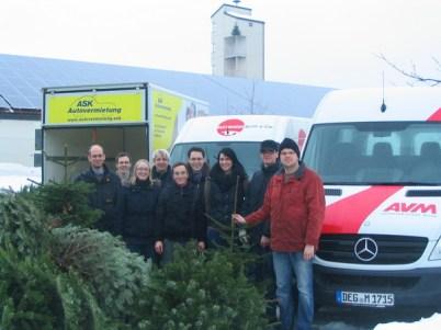 Christbaumsammelaktion 2011