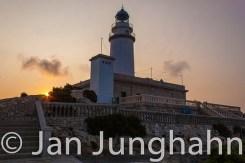 Der Leuchtturm beim Sonnenaufgang am Cap Formentor