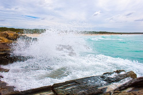 Wellen im Mittelmeer