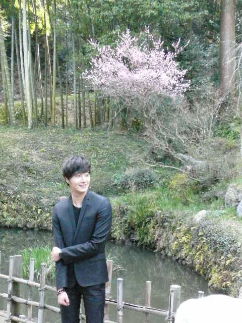 2012 4 9 Jung II-woo at Koma Temple in Hidaka Japan. Special Lunch, etc.00004