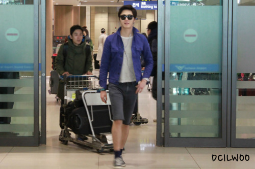 2013 2 22 Jung II-woo in Holika Holika Event in Myanmar (Airport Arriving back in Seoul) 00011