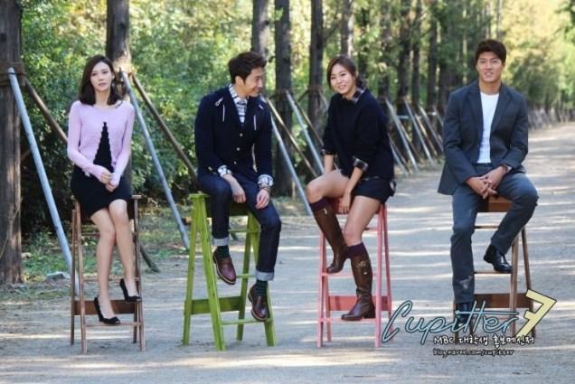 2013 10 Jung II-woo Golden Rainbow Poster Shoot Behind the Scenes Cr. MBC, Cupitter00012