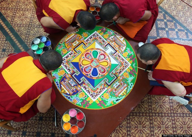Tibetan Monks Take Part In The Salisbury International Arts Festival
