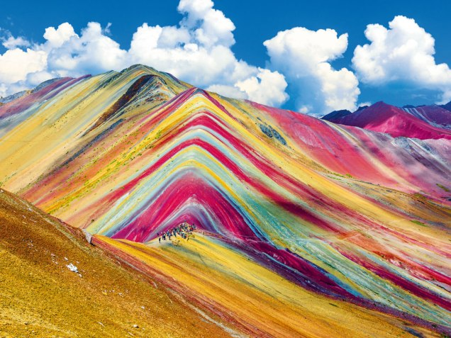 Rainbow mountains in Pitumarca, Peru