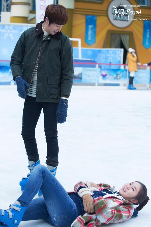 2014 Jung II-woo in Golden Rainbow Episode 23 Ice Skating 8