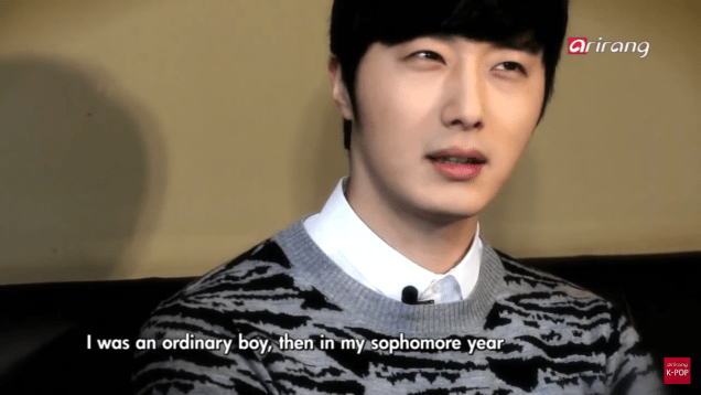 Jung II-woo in interview for Arirang TV. March 2014 10