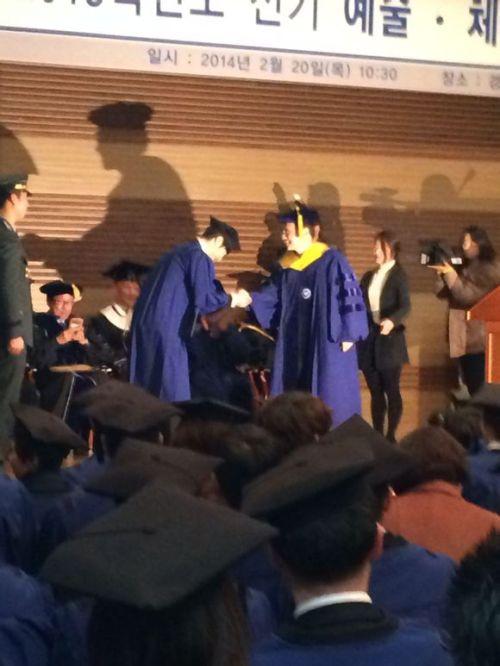 Jung II-woo's Graduation Hanyang University 2014 2 20 Fan Taken 8