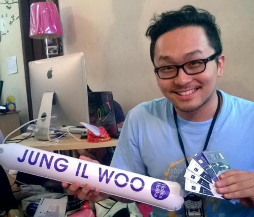 2014 5 27 Jung II-woo in Greet and Meet Holika Holika Greet and Meet Set Up 5