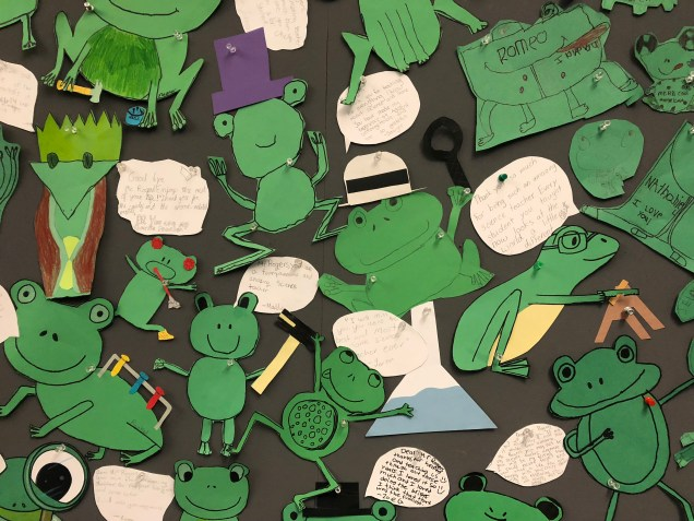 2018 5 31 Froggy Bulletin Board at School 1.jpg