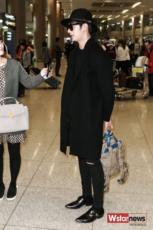 2014 10 29 Jung Il-woo at the Beauty Cosmo Awards in Shanghai, China. Airport Return to Korea 2