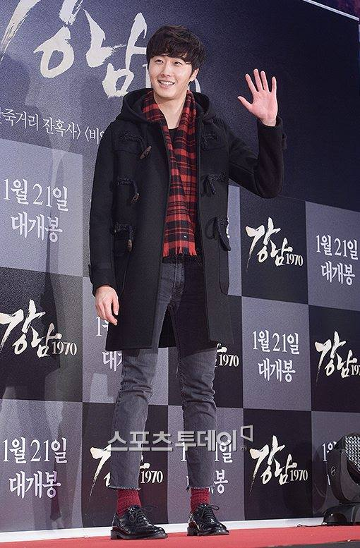 2015 1 20 Jung Il-woo attends VIP Premiere of Gangnam 1970. 1