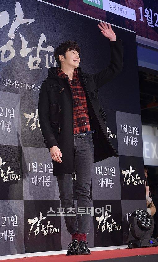 2015 1 20 Jung Il-woo attends VIP Premiere of Gangnam 1970. 9