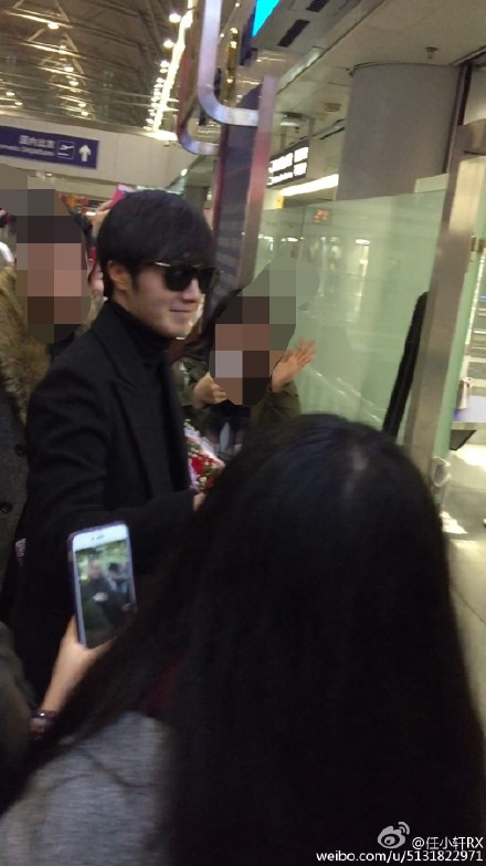 2015 2 12 Jung Il-woo goes back to Korea after Beijing Fan Meeting. 4