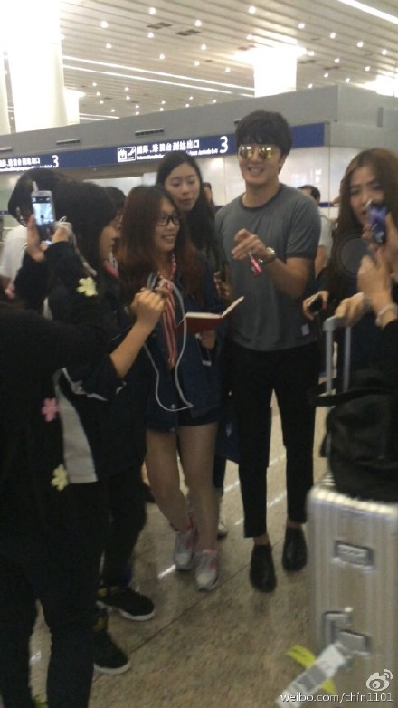2015 3 Jung Il-woo at the airport in route to Star Chef filming in China C 1