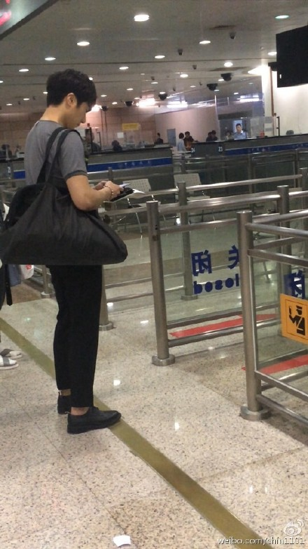 2015 3 Jung Il-woo at the airport in route to Star Chef filming in China C 2