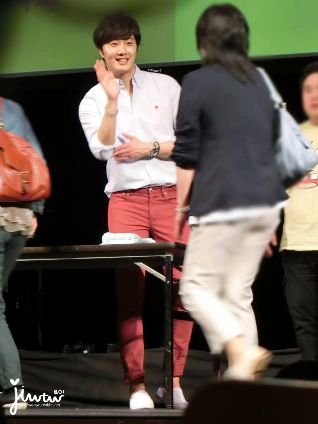 2015 4 25 Jung Il-woo in his Fan Meeting Rainbo-Woo in Tokyo, Japan. Fan Taken. Cr. On them 10