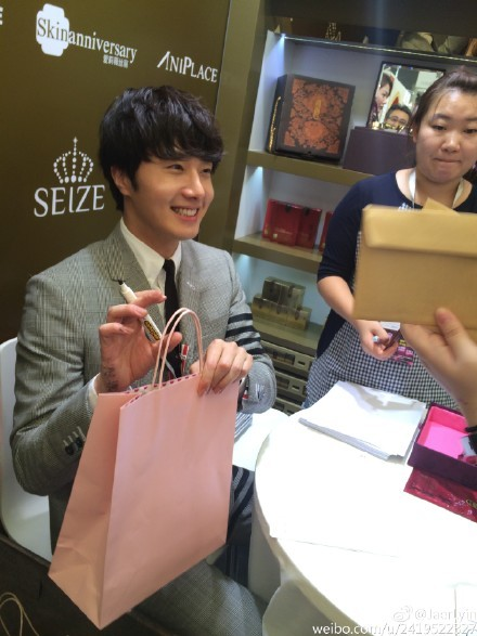 2015 5 19 Jung Il Woo attends the '2015 China Shanghai Cosmetics and Beauty Expo' 28
