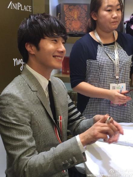 2015 5 19 Jung Il Woo attends the '2015 China Shanghai Cosmetics and Beauty Expo' 31