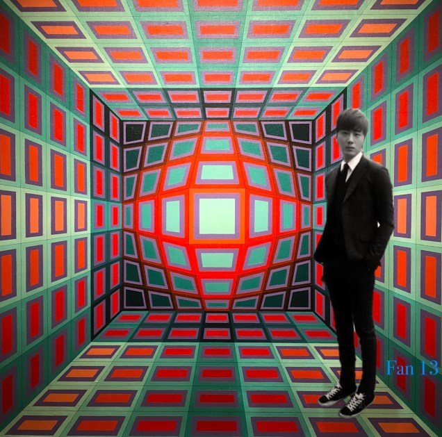 """Jung Il-woo art inspired by Vasarely's """"Dirac"""" from 1970.JPG"""
