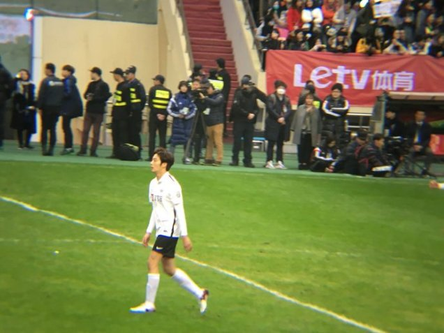 2016 1 10 jung il-woo playing soccer in the 2016 asian smile cup. 29