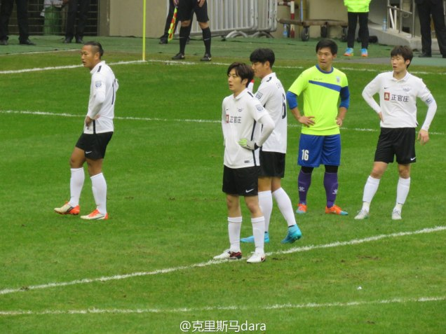 2016 1 10 jung il-woo playing soccer in the 2016 asian smile cup. 5