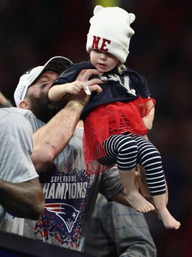 2019 2 3 New England Patriots win their 6th Superbowl in 18 years. They celebrate it with family. 8