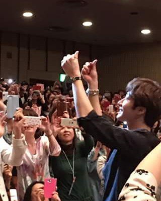 2016 4 15 Jung Il-woo at the 10th Thank You Fan Meeting in Japan. Cr. Fan Taken1
