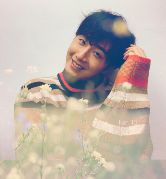 2019 3 Jung Il-woo in oversized sweater cuteness and overcaot for Kribbit Magazine. FLower ones edited by Fan 13 14