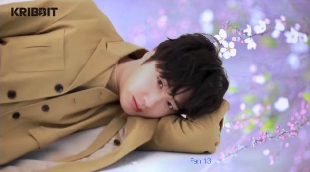 2019 3 Jung Il-woo in oversized sweater cuteness and overcaot for Kribbit Magazine. FLower ones edited by Fan 13 4