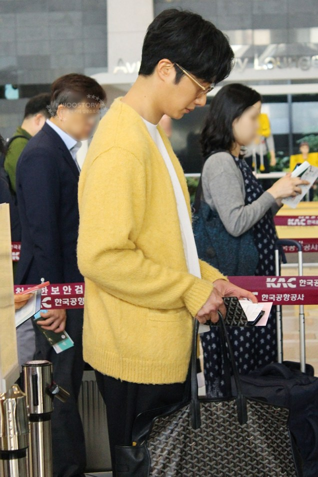 2019 5 21 Jung Il-woo departs to Japan for Fan Meetings. Cr. Ilwoostory Cafe. 5