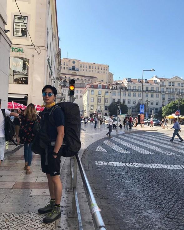Jung Il-woo walking El Camino de Santiago. May 2019 1.JPG