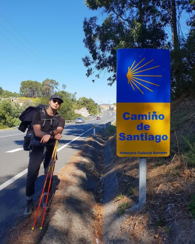 Jung Il-woo walking El Camino de Santiago. May 2019 27