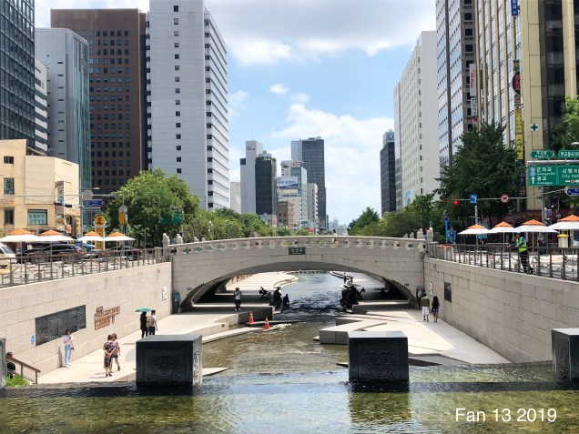 2019 Cheonggyecheon Stream by Fan 13. 4